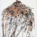 "Claudia Sbrissa. Wayward, 2010, Velvet Flocking, pen, ink. 44"" x 33"". From the series Satis House. Photo courtesy the artist."